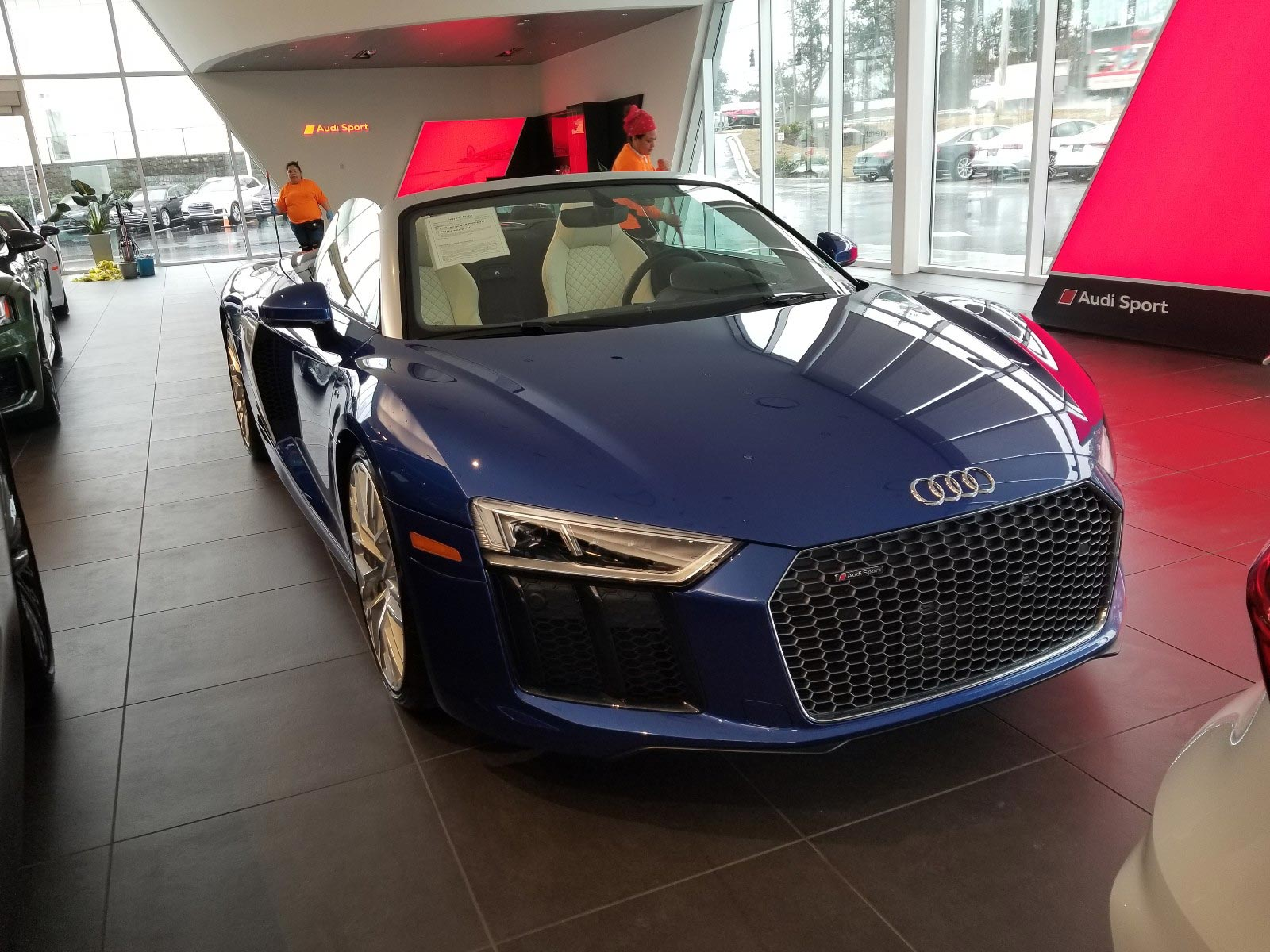New Blue Convertible R8